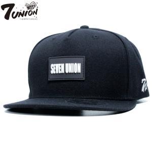 7UNION セブンユニオン キャップ ストラップバック ストレートキャップ ブラック|chiki-2