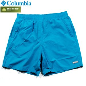 Columbia コロンビア ナイロンショーツ ショートパンツ 撥水 オムニシールド ターコイズブルー|chiki-2