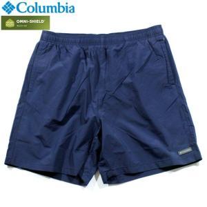 Columbia コロンビア ナイロンショーツ ショートパンツ 撥水 オムニシールド ネイビー|chiki-2