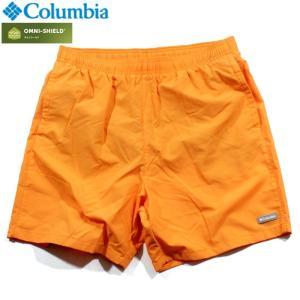 Columbia コロンビア ナイロンショーツ ショートパンツ 撥水 オムニシールド オレンジ|chiki-2