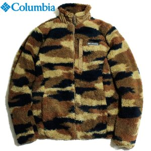 Columbia コロンビア フリースジャケット ストレッチボアフリース フルジップ 迷彩柄 ブラウンブラック|chiki-2