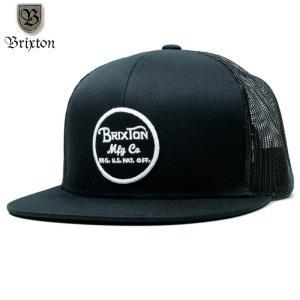 BRIXTON キャップ スナップバック メッシュ ブラック|chiki-2
