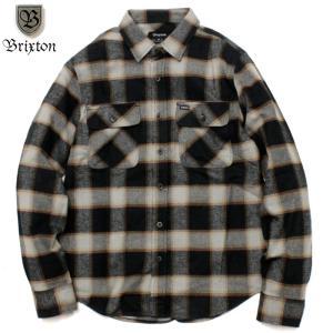 BRIXTON ブリクストン ヘビーネル チェックシャツ トリプルステッチ フラップポケット|chiki-2