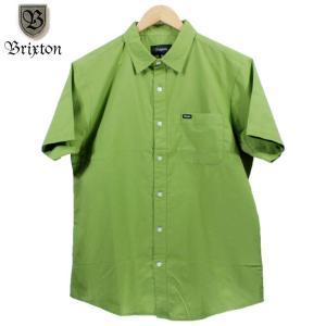 BRIXTON 半袖シャツ オックスフォード グラスグリーン|chiki-2