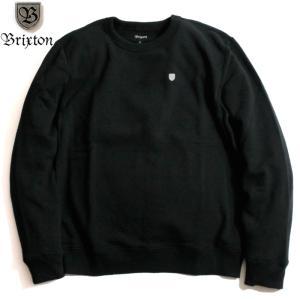 BRIXTON トレーナー スウェットシャツ 裏起毛 ブラック シールドロゴ chiki-2