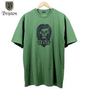 BRIXTON Tシャツ ライオン アニマル 動物 グリーン|chiki-2