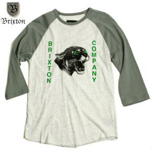 BRIXTON ブリクストン ラグラン 七分袖 Tシャツ ブラックパンサー 黒豹|chiki-2
