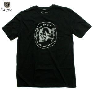 BRIXTON Tシャツ スカル 黒 ブラック|chiki-2