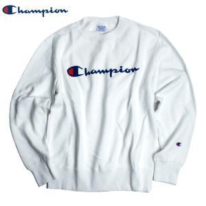 チャンピオン Champion ベーシック ロゴスウェット トレーナー ホワイト chiki-2
