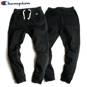 チャンピオン Champion ジョガーパンツ チノパン コットンツイル ブラック|chiki-2