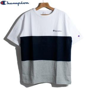 チャンピオン Champion Tシャツ パネル 切替 ボーダー chiki-2