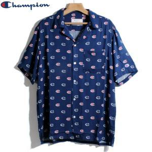 チャンピオン Champion 総柄 レーヨンシャツ オープンカラーシャツ|chiki-2