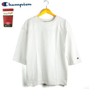 チャンピオン Champion 7分袖 フットボールTシャツ T1011 ヘビーウェイト ホワイト chiki-2