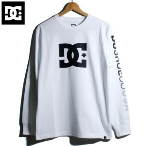 DC ロンT 長袖Tシャツ 袖プリント ホワイト|chiki-2