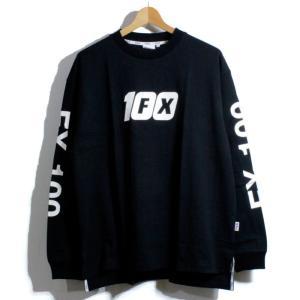 FILA フィラヘリテージ ロンT 長袖Tシャツ 袖プリント FX-100 ブラック|chiki-2