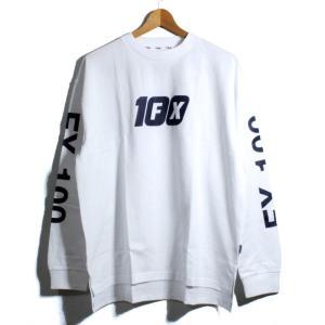 FILA フィラヘリテージ ロンT 長袖Tシャツ 袖プリント FX-100 ホワイト|chiki-2