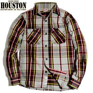 HOUSTON ヒューストン ヘビーネル ビエラシャツ マドラスチェック ブラック chiki-2