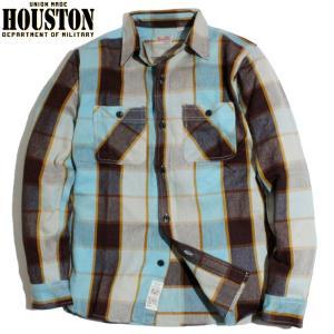 HOUSTON ヒューストン ヘビーネル ビエラシャツ マドラスチェック ブラウン chiki-2