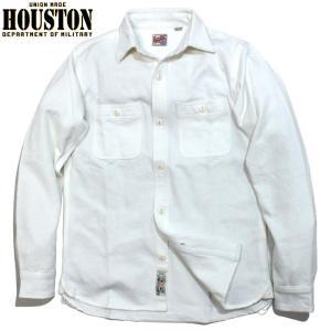 HOUSTON ヒューストン ヘビーネル ビエラシャツ 無地 ホワイト chiki-2