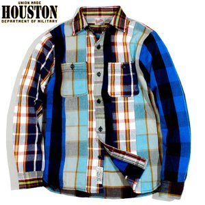 HOUSTON ヒューストン ヘビーネル ビエラシャツ クレイジー チェック マルチカラー chiki-2