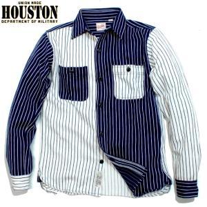 HOUSTON ヒューストン ヘビーネル ビエラシャツ クレイジー ストライプ chiki-2