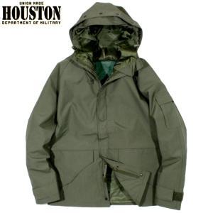 HOUSTON ヒューストン ECWCS パーカー 防水ジャケット ミリタリージャケット オリーブド...