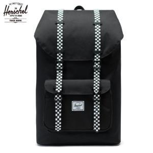 ハーシェル HERSCHEL リトルアメリカ バックパック 24.5L チェッカー柄 ブラック|chiki-2