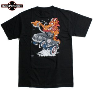 INDEPENDENT インディペンデント Tシャツ スティーブキャバレロ ドラゴン ブラック|chiki-2