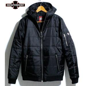 INDEPENDENT インディペンデント 中綿ジャケット フード付きジャケット 防寒 アウター ブラック|chiki-2