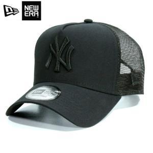 ニューエラ NEWERA メッシュキャップ NY ニューヨーク ヤンキース 黒黒 オールブラック 9FORTY Aフレーム|chiki-2