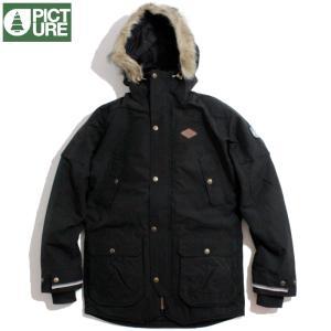 Picture Organic Clothing ピクチャーオーガニッククロージング ファー付きジャケット 防寒 中綿 ブラック|chiki-2