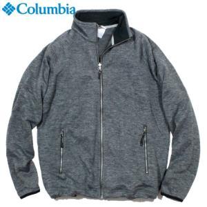 Columbia コロンビア フルジップブルゾン ニット調 裏地起毛 ライトグレー|chiki-2