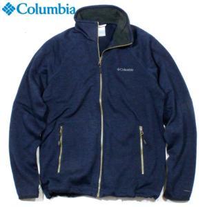 Columbia コロンビア フルジップブルゾン ニット調 裏地起毛 ネイビー|chiki-2