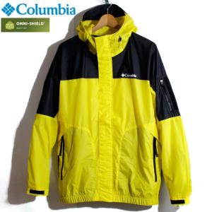 Columbia コロンビア マウンテンパーカー 撥水 オムニシールド 黄黒 イエロー ブラック ツートンカラー|chiki-2