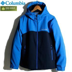 Columbia コロンビア ジャケット マウンテンパーカー 撥水 オムニシールド ブルー ネイビー 青紺 ツートンカラー|chiki-2