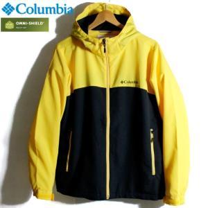 Columbia コロンビア ジャケット マウンテンパーカー 撥水 オムニシールド イエロー ブラック 黄黒 ツートンカラー|chiki-2