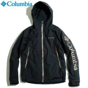 Columbia コロンビア ナイロンパーカー オムニヒート 熱反射保温 オムニシールド 耐久撥水加工 ブラック リアルツリーカモ|chiki-2