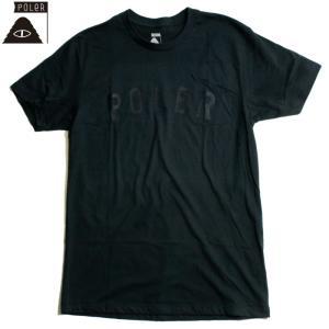 POLeR ポーラー Tシャツ アーチロゴ ブランドネーム フロッキープリント ネイビー chiki-2