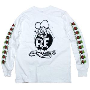 RatFink ラットフィンク ロンT 長袖Tシャツ 袖プリ ホワイト US企画|chiki-2