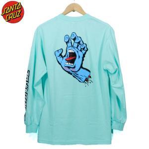 SANTACRUZ サンタクルーズ ロンT 長袖Tシャツ スクリーミングハンド 袖プリ ミント|chiki-2