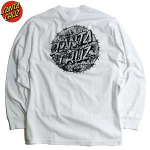 SantaCruz サンタクルーズ ロンT 長袖Tシャツ スカル ドクロ ホワイト|chiki-2