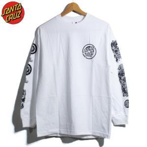 SANTACRUZ サンタクルーズ ロンT 長袖Tシャツ ロブロスコップ 袖プリント ホワイト|chiki-2