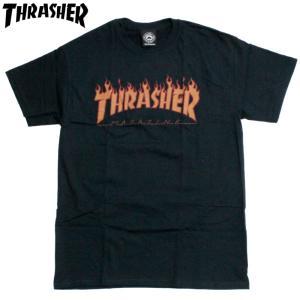 スラッシャー Thrasher Tシャツ フレイムロゴ マグロゴ ブラック|chiki-2