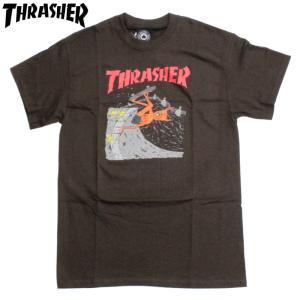スラッシャー Thrasher Tシャツ NECKFACE ネックフェイス モンスター ホラー ブラウン|chiki-2