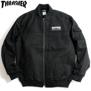 スラッシャー Thrasher ワークジャケット ブルゾン ブラック|chiki-2