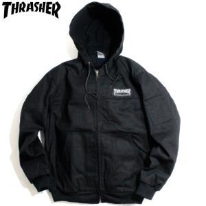 スラッシャー Thrasher ワークジャケット フード付き ブラック|chiki-2