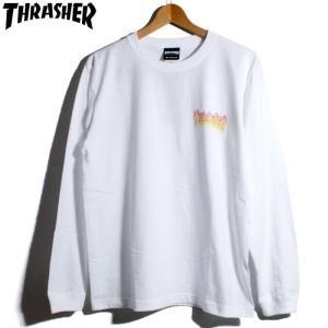 スラッシャー THRASHER ロンT 長袖Tシャツ フレイムロゴ|chiki-2