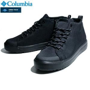 Columbia コロンビア メンズ 防水 スニーカー レインシューズ ハイカット ブラック|chiki-2