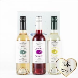 おもてなしギフト ワインセット 横浜の日本で一番小さなワイナリーで作った女性のためのライトなワイン 普段の食事を楽しむ3本セット(ハーフサイズ)|chiki-gift
