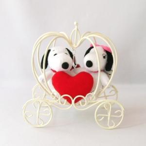 スヌーピー&ベル スタンダード マスコット ぬいぐるみ ハート かぼちゃの馬車付き|chiko-mori